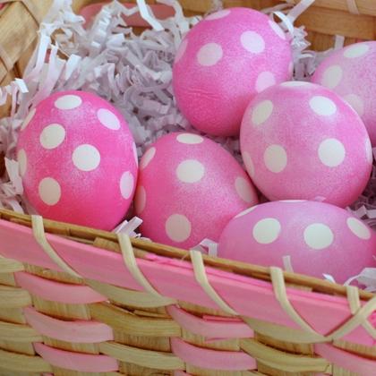 polk dot eggs