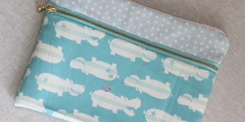 double zip purse