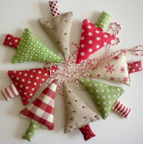 christmas trees sewn