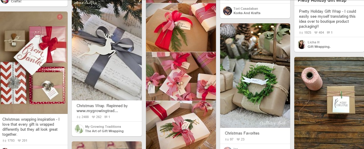 pintrest christmas packing ideas