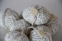 newspaper decoupage eggs